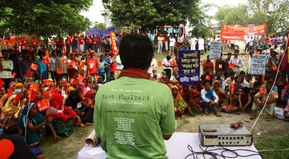 Rally against GCM's Phulbari project. Photo: Taslima Akhtfer