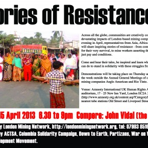 Stories of Resistance - community activists slam Rio Tinto, Anglo American
