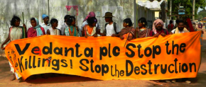 Foil Vedanta at protest in Odisha May 2013