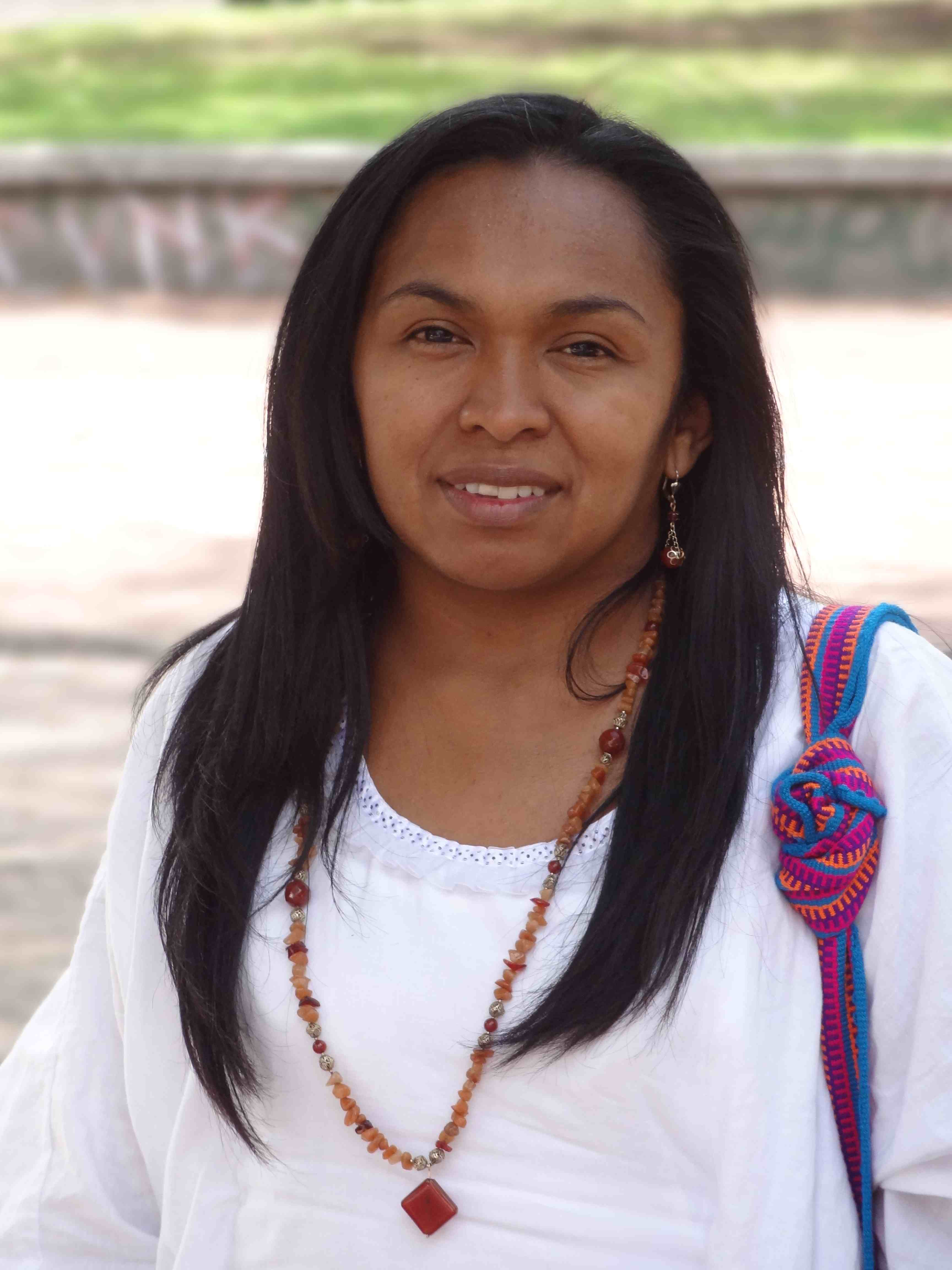 Indigenous woman travels from Colombian barricades to BHP