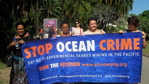 deep sea mining protest
