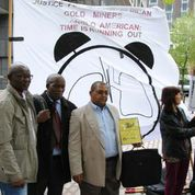AGM protest 2014 NUM delegation