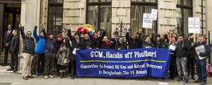 Demo raged in London at British coal company GCM