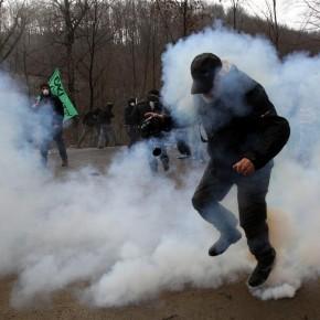 Skouries repression Nov 2014