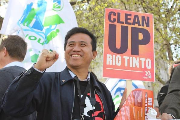 Rio Tinto AGM protest 16 April 2015