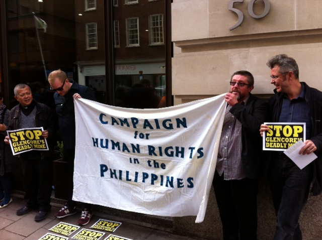 Glencore? No More! London protestors call for end to Glencore's mining abuses in the Philippines and worldwide