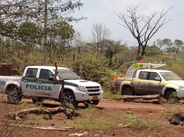 Carros policia y cerrejon