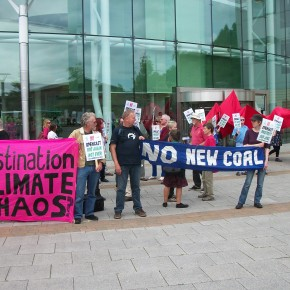 Nant Llesg protest June 2015