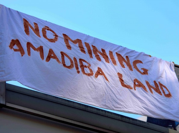 Amadiba London protest banner 160505