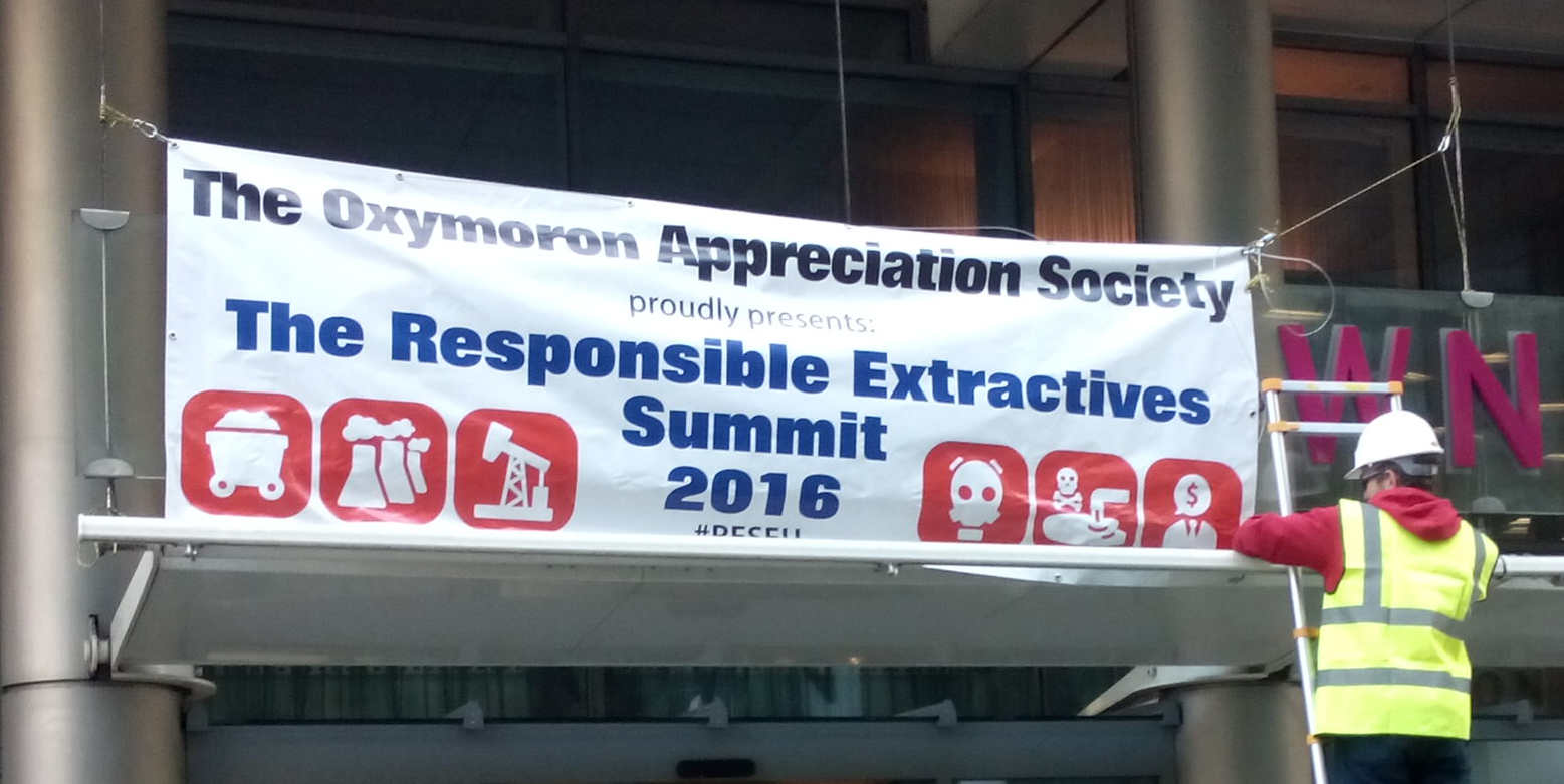 'The Oxymoron Appreciation Society' re-brands the 'Responsible Extractives Summit