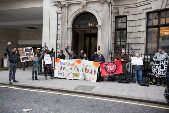 Protest against GCM Resources at its AGM on 28 December