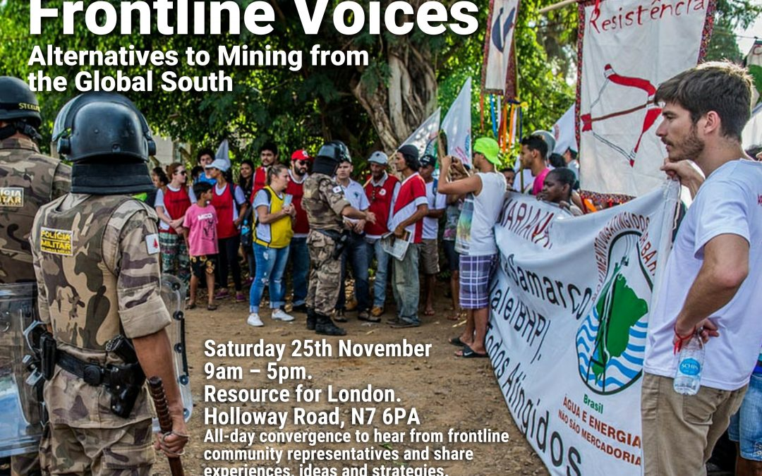 Frontline defenders travel to London to counter Mines and Money conference