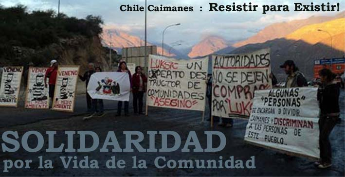 Protests against Antofagasta at Pelambres in Chile