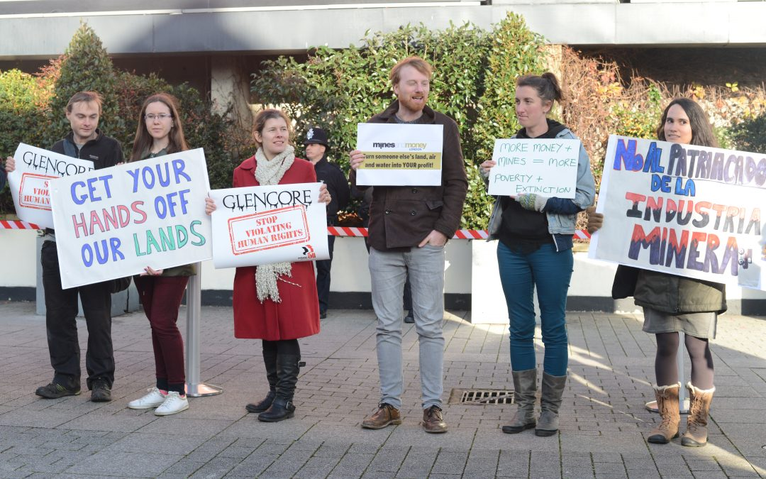 Protesting the Mines and Money conference and other London mining news