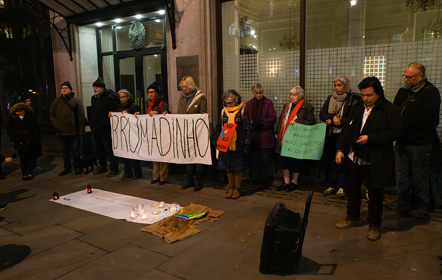 Vigil for Brazil's communities affected by Brumadinho dam disaster