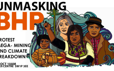 Unmasking BHP week: protest mega-mining and climate breakdown