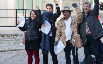 Unmasking BHP: Human rights defenders meet with investors